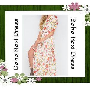 CLOSING Small New Boho Floral Maxi Dress